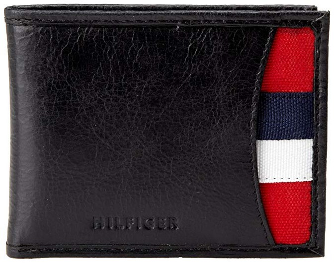 Tommy Hilfiger Mens Leather Passcase Wallet