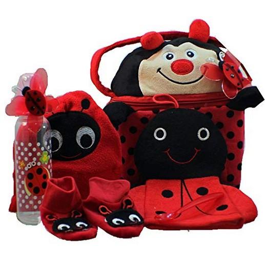 Little Lady Bug-a-boo Baby Gift Basket, Girl