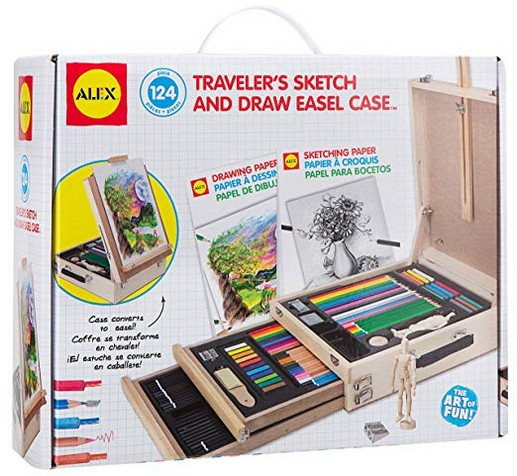 ALEX Art Travelers Sketch and Draw Easel Case