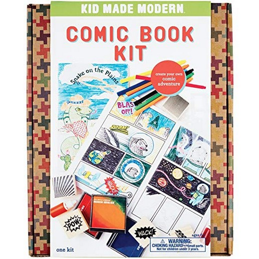Kid Made Modern Comic Book Kit - Kids Arts & Crafts Toys | Storytelling For Kids