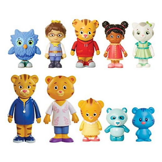 Daniel Tigers Neighborhood Friends and Family Figure Set (10 Pack) (Amazon Exclusive)