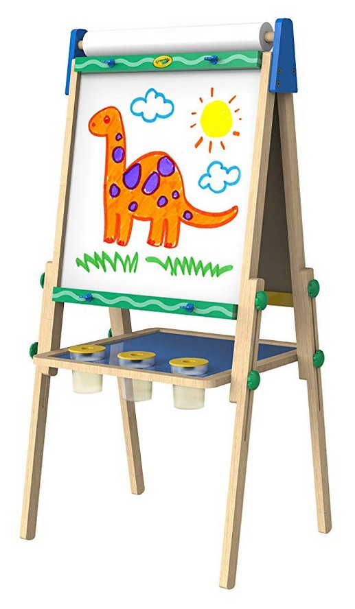 Crayola Kid?s Wooden Easel, Dry Erase Board and Chalkboard, Gift Age 4,5,6,7 (Amazon Exclusive)