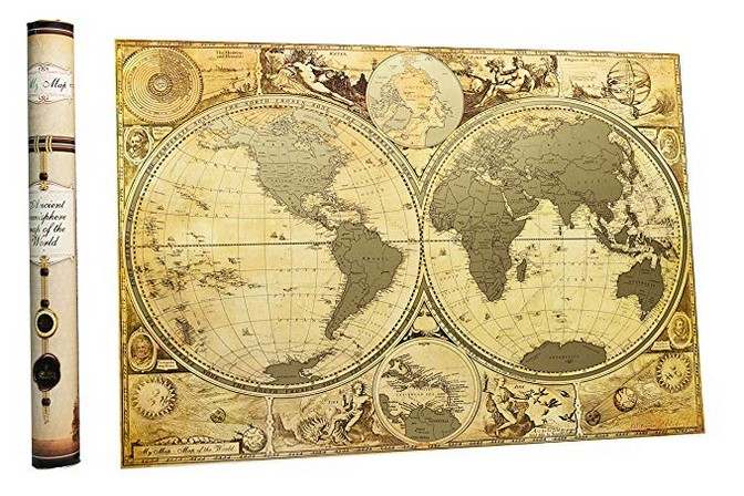 MyMap Hemisphere Travel World Scratch Off Map Ancient History map World Scratch Off map Xmas Premium Gift