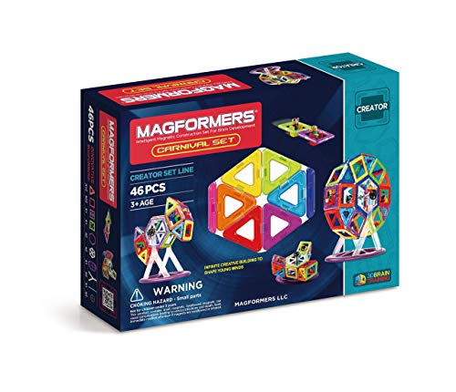 Magformers Creator Carnival Set (46-pieces) Deluxe Building Set