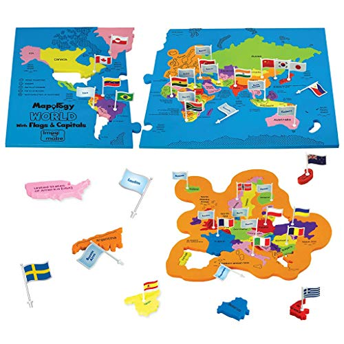 Mapology World with Flags & Capitalst