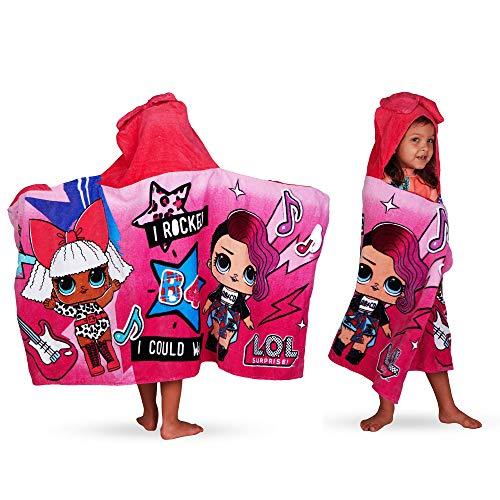 L.O.L. Surprise! Soft Cotton Hooded Bath Towel Wrap 24? x 50? Pink