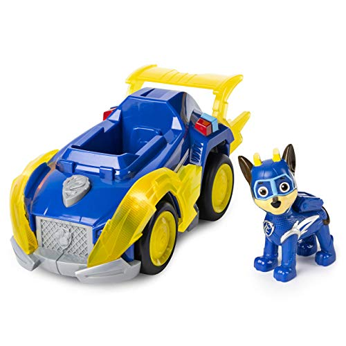 Paw Patrol, Mighty Pups Super Paws Chase?s Deluxe Vehicle with Lights & Sounds