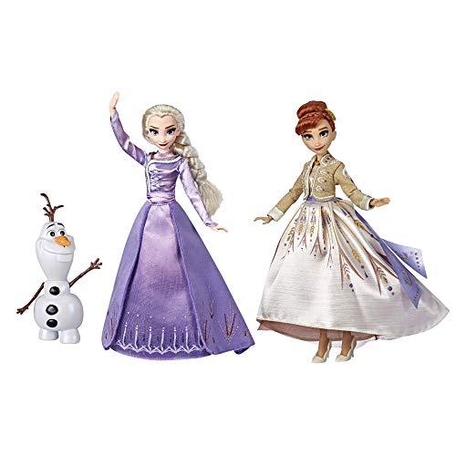 Frozen Disney Elsa, Anna, & Olaf Deluxe Fashion Doll Set