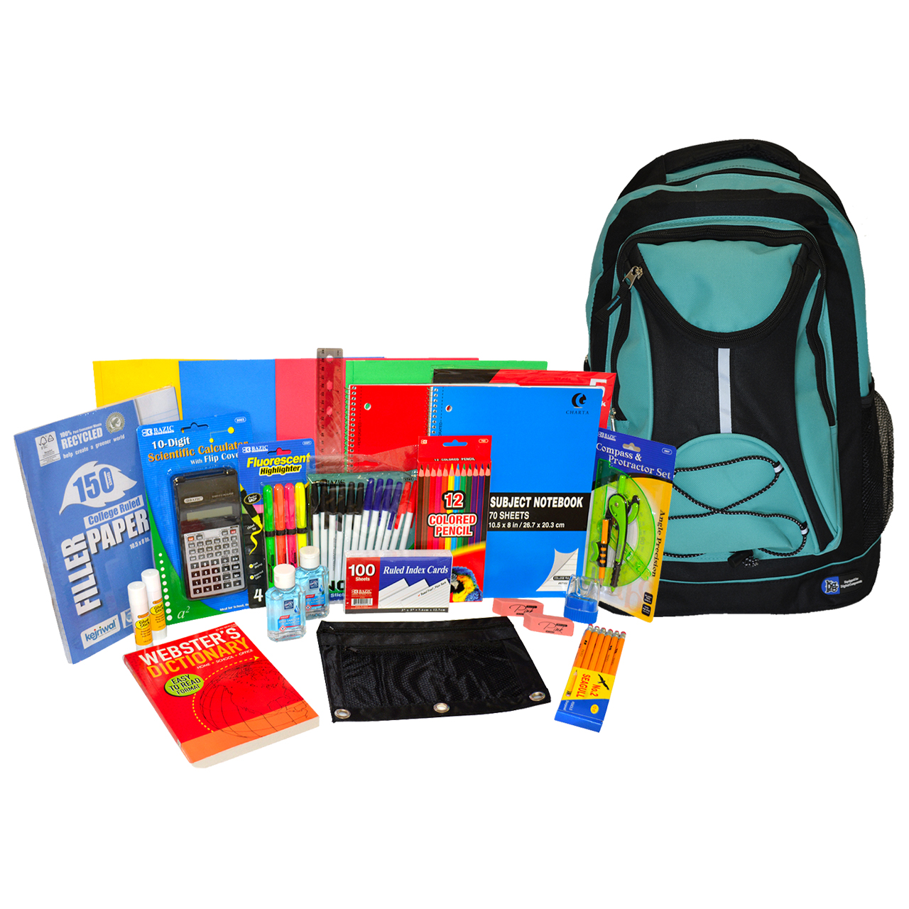 6th to 12th Grade Backpack and Supplies