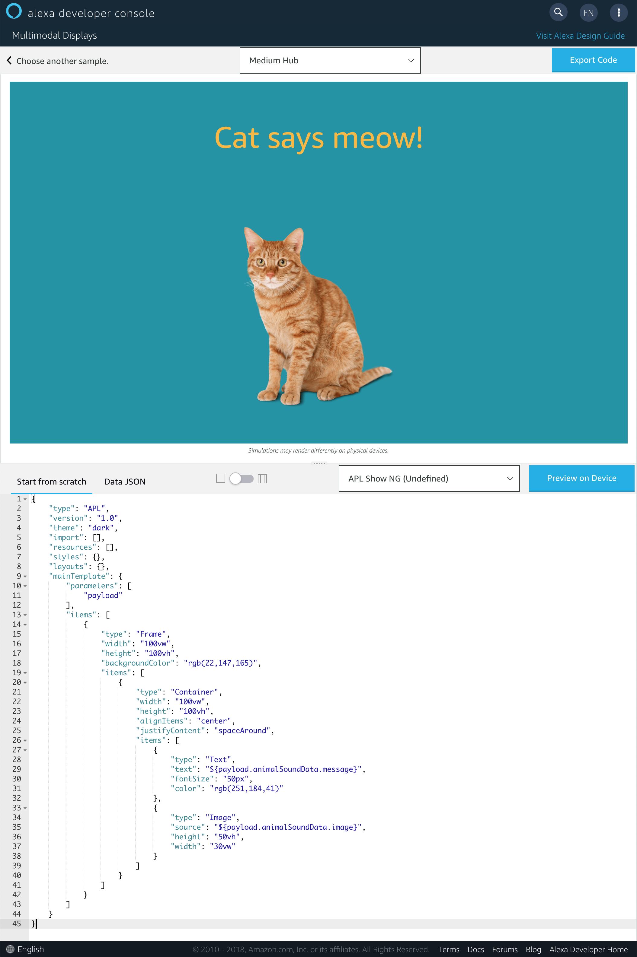 Alexa Presentation Language Tutorial: Getting Started