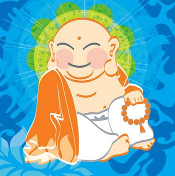 Happy Meditating Buddha