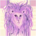 Leo watercolor circular image