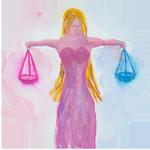 Libra watercolor circular image
