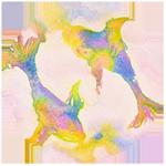 Pisces watercolor circular image