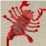 Scorpio watercolor circular image