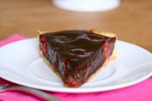 Soft Chocolate and Raspberry Tart