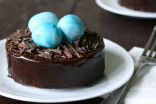 Chocolate Truffle Egg Ganache Tortes