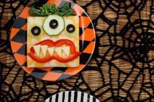 Open Monster Face Sandwiches