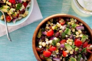 Black Bean, Corn and Avocado Salad