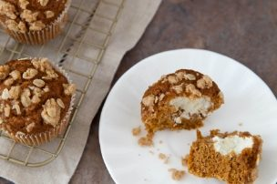 Pumpkin Cream Cheese Muffins, Lightened Up