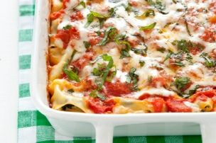 Spinach and Cheese Manicotti {and an ATK Cookbook Review + Giveaway!}