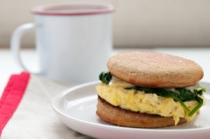 Egg Sandwich with Spinach and Gouda