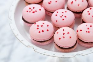 Cherry Chocolate Macarons