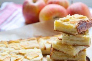 Apple Custard Bars