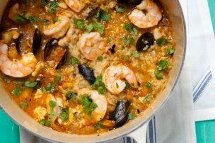 Tomato Green Chile Seafood Stew
