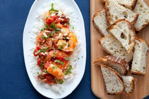 Greek-Style Shrimp with Tomatoes and Feta (and a Cookbook Giveaway!)