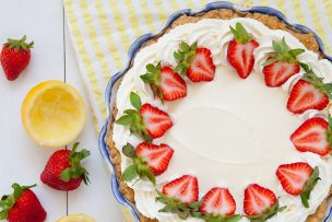 Strawberry Lemon Cream Pie