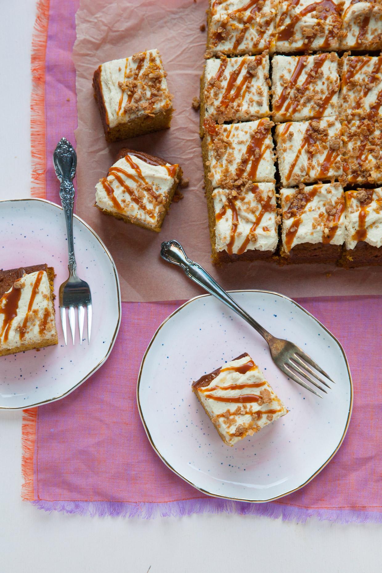 Pumpkin Sheet Cake Brown Butter Frosting