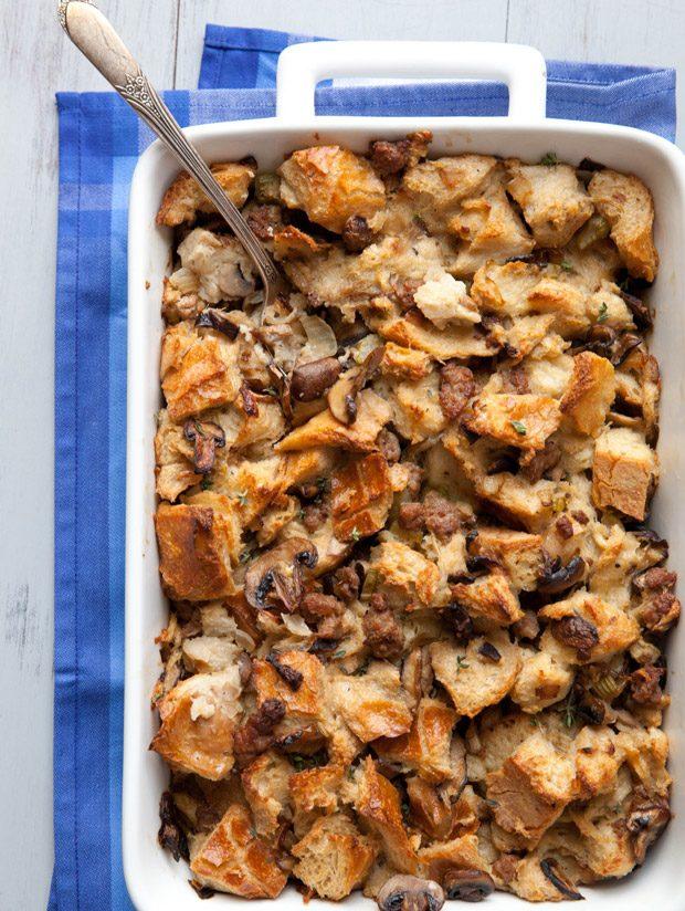 Herbed Mushroom and Sausage Stuffing