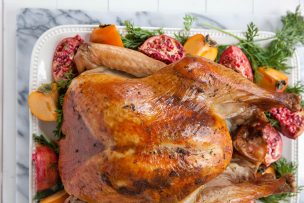 Roast Turkey with Herb Compound Butter