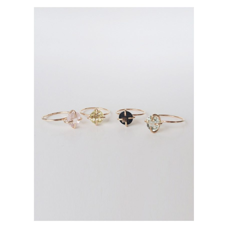 Quartz Solitaire Ring