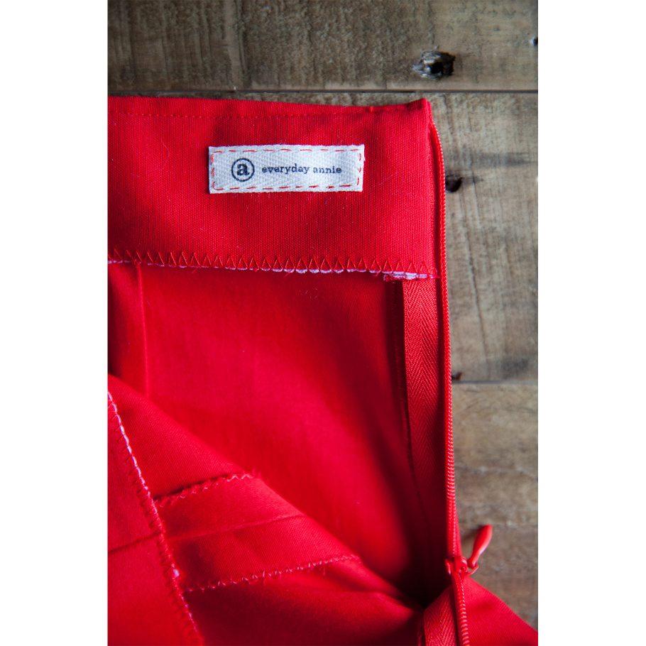 Red Pencil Skirt - Inside
