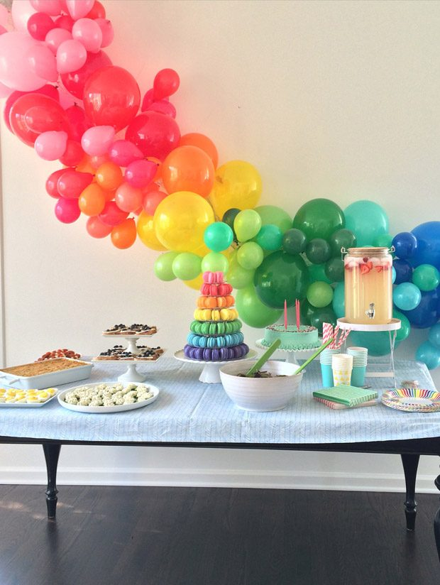 Caroline's Rainbow Birthday Party