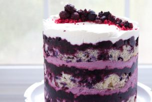Wild Berry Lavender Layer Cake