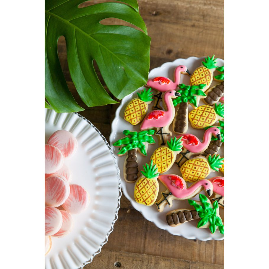 Tropical motif sugar cookies