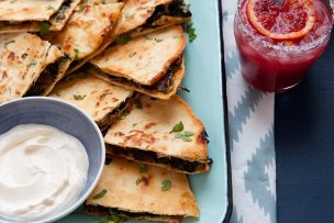Mushroom and Swiss Chard Quesadillas