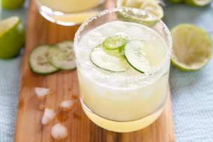 Summer Cucumber Jalapeño Margaritas