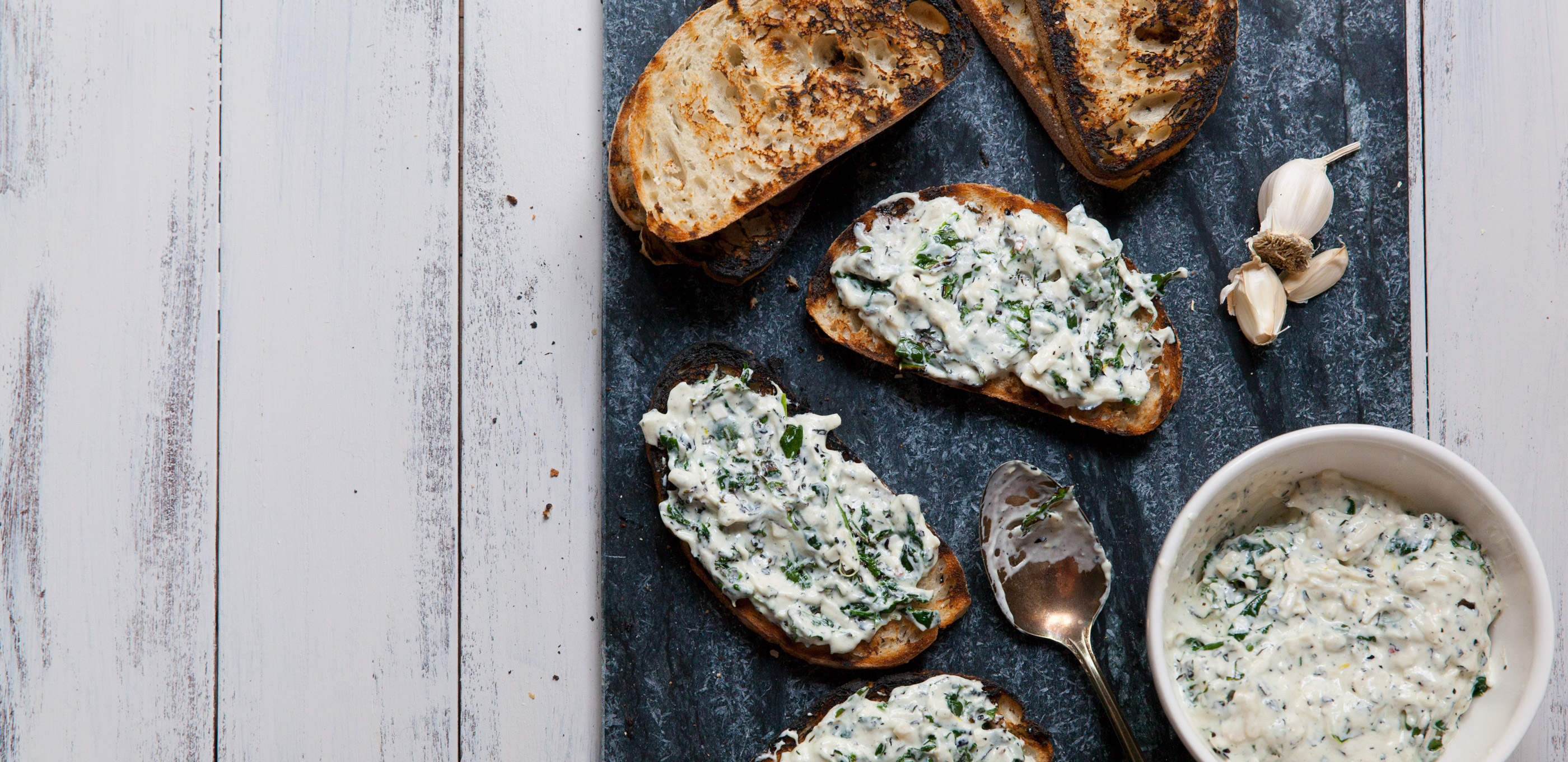 What's better than avocado toast? Creamy kale toast, obvi.