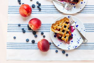 Nectarine Blueberry Pie