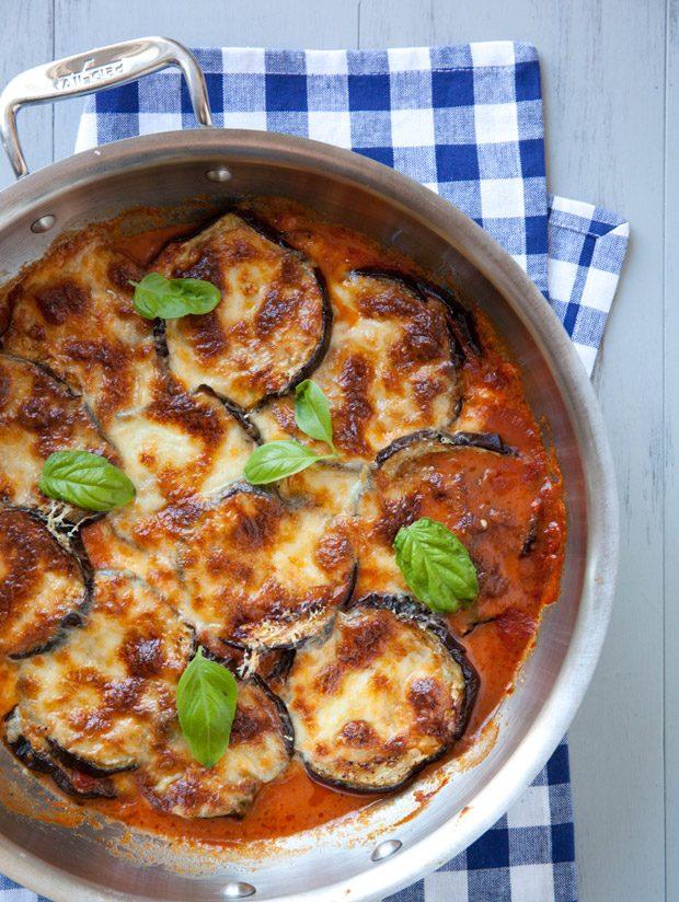 Skillet Eggplant Parmesan