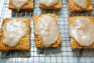Spiced Plum Pop Tarts with Brown Butter Vanilla Bean Glaze
