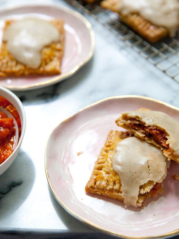 Spiced Plum Pop Tarts with Brown Butter Vanilla Bean Glaze