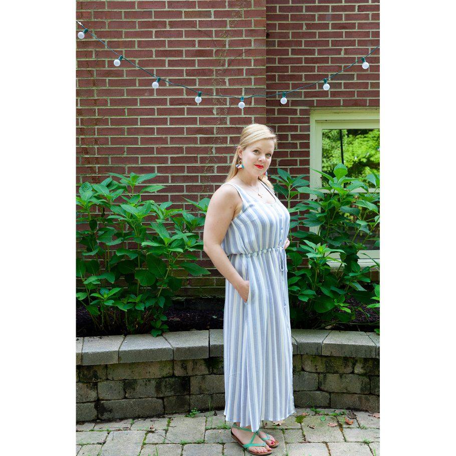 Striped Summer Maxi Dress