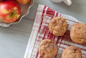 Cinnamon Sugar Apple Doughnut Muffins