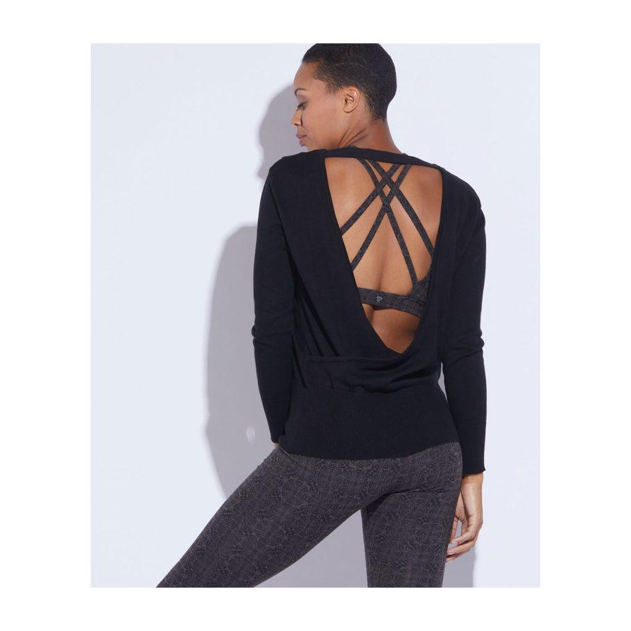 Open Back Organic Cotton Sweater