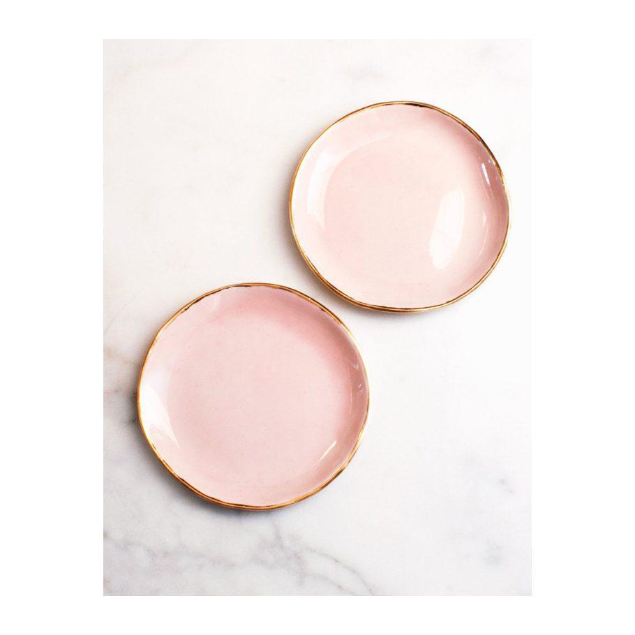 Rose + Gold Dessert Plates